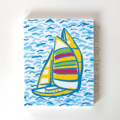 Sailboat Lilly Pulitzer You Gotta Regatta by ColorOnTheWalls, $20.00