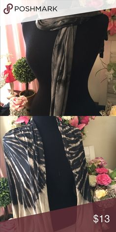 Tie dye scarves Blackish or tanish, wide enough to wear as shawl. 1 black and 2 tan available Accessories Scarves & Wraps