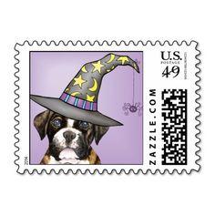 Boxer Halloween Stamps