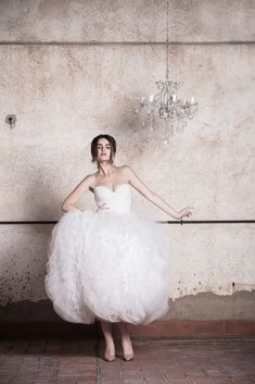 Fluffy tulle wedding dress - a short, sassy, ballgown! Ramon Herrerías Wedding Dresses