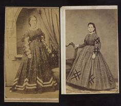 Civil War era CDV 2 WELL DRESSED LADIES FROM NEW ORLEANS LOUISIANA in Collectibles, Photographic Images, Vintage & Antique (Pre-1940) | eBay