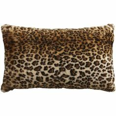 'Part of our faux fur collection, pair this pillow with our cozy, fuzzy, furry animal print throws for a really wild look.'