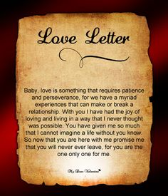 Love letter for him #100