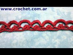 Puntilla N° 26 a crochet