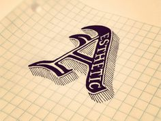 tags: typography, hand drawn, A