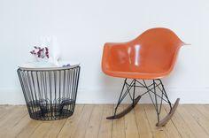 Rocking Chair Eames Orange
