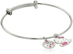 Hello Kitty Stainless Steel Angel Charm Bangle Bracelet 7.25' *** See this great product. (This is an affiliate link and I receive a commission for the sales)