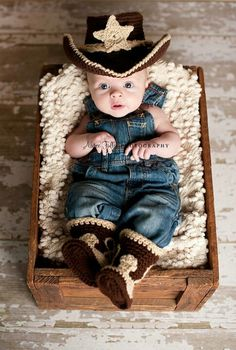 Baby cowboy So adorable!