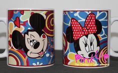 Caneca Mickey e Minnie  3/4