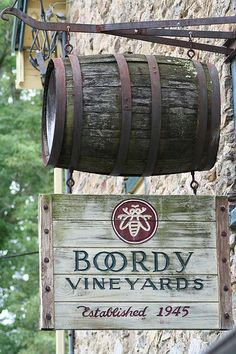 Boordy Vineyards- Maryland... I live 10 minutes from there!! Such good wine!