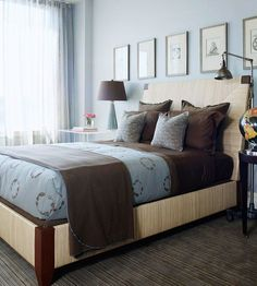 Blue And Brown Master Bedroom blue and brown master bedroom. this is what i want my bedroom to