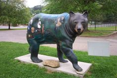 Take a photo with the many bears in Cherokee, NC. Cherokee is located at the entrance to Great Smoky Mountains National Park and at the southern end of the Blue Ridge Parkway.