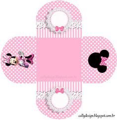 """CALLY'S DESIGN-Kits Personalizados Gratuitos: Kit Personalizado Aniversário """"Minnie Rosa"""" para Imprimir Neon Birthday, Mickey Mouse Birthday, Minnie Mouse Party, Mouse Parties, Eid Boxes, Kids Background, Baby Box, Mickey Party, Easy Christmas Crafts"""