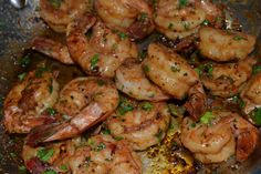 Spicy Sauteed Shrimp with Garlic, Lemon & Chicken broth