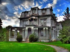 Creepy,  but I would love to go inside!  It would be a nice fixer upper