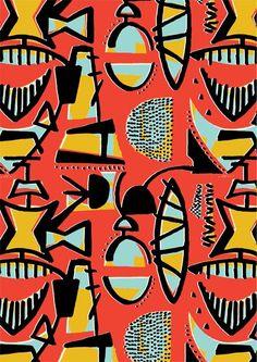 Abstract pattern 1950s inspired - Ryan Deighton Design