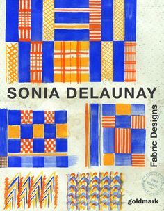 Catalogue showing original fabric designs by Sonia Delaunay