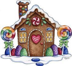 Gum drop bushes, lollipop trees, & candied chimney