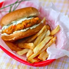Chipotle Salmon Burgers with Lemon Chive Mayo