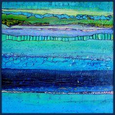 - Photo de New Art 2015 - Elke Trittel Art Collages, Collage Art, Encaustic Art, Naive Art, Blue Art, Art Plastique, Book Crafts, Art Techniques, Mixed Media Art