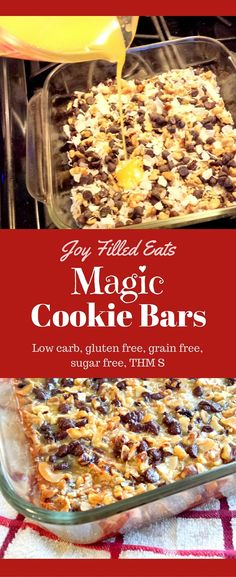 These Magic Cookie Bars taste just like the 'real' ones. No one will ever know they are sugar free, grain free, gluten free, low carb, and a THM S. via @joyfilledeats