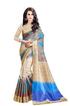 Trendz Printed Cotton Silk Brown Saree(TZ_Mayur_Pankh)
