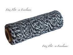 Geschenkband - Bäcker-Garn Bakers Twine schwarz  - ein Designerstück von Fitzi-Floet bei DaWanda