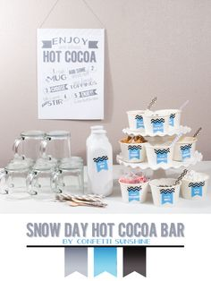 Confetti Sunshine: Snow Day : Hot Cocoa Bar free printable (and apology!)