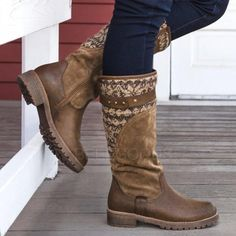 2019 high boots brown women vintage square heel buckle medium high buckle boots keep warm round toe shoes british style 43 - Winter Boots Warm Boots, Brown Boots, Women's Boots, Buy Boots, Shoe Boots, Ankle Boots, Flat Boots, High Boots, High Heels