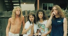 Rare Photos From The Early Days Of Metallica  MURDER IN THE FRONT ROW: is a new coffee table book with over 400 photos from the early 80s East Bay thrash metal scene that Metallica came from. So much good hair...