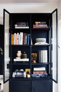 Casement Black Tall Cabinet from Crate & Barrel