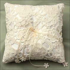 winter wedding ring pillow | ... accessories ring bearer pillows rosa ivory ring bearer pillow