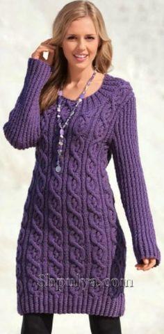 Mini-dress with braids, knitting