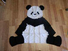 Super Soft and Cozy Panda Bear Quilted Rag Blanket on Etsy, $59.99