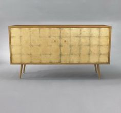 Franklin Media Cabinet - Gold Leaf - buffets and sideboards - DwellStudio