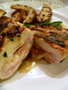Grilled Chicken Cordon Bleu... a new twist on the elegant favorite