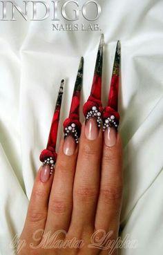 Red and black stilettos