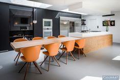 Villa Vught - Culimaat – High End Kitchens Kitchen Time, Test Kitchen, Diy Kitchen, Kitchen Dining, Building Kitchen Cabinets, Interior Windows, Window Design, Diy Home Crafts, Cool Kitchens