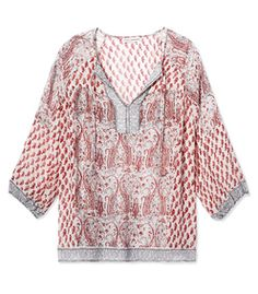 Ulla Johnson Patchwork Paisley Boho Blouse