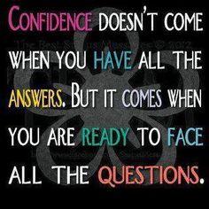 Readiness #3 Confidence