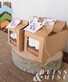 Wild and Three Birthday - Smore boxes, smore favors