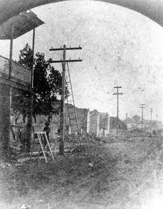 Palafox Street after the fire of 1880 : Pensacola, Florida