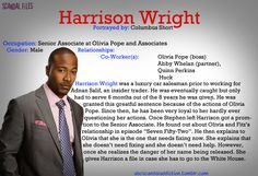 "Harrison on SCANDAL TV Show Series - I am looking forward to learning his ""background"" in February 2014...  [Celebrity Actor COLUMBUS SHORT]"