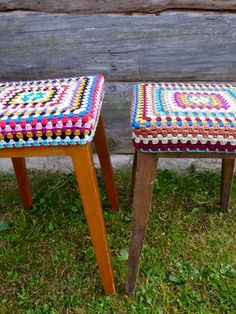 My Rose Valley: How to make a Granny Stool Cover, thanks so xox