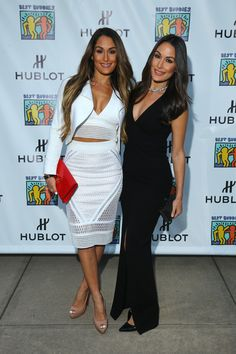 Nikki Bella Photos - Best Buddies Hearst Castle Challenge - Official Opening Ceremonies of the Best Buddies Challenge - Zimbio Nikki Bella Photos, Nikki And Brie Bella, The Bella Twins, Bella Sisters, Nicki Bella, Brie Bella Wwe, John Cena And Nikki, Twin Outfits, Dressy Outfits