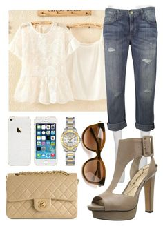 """""""Untitled #294"""" by jazzy123423 ❤ liked on Polyvore featuring ColourShop, Current/Elliott, Jessica Simpson, Chanel, Thierry Lasry, Tag Heuer, women's clothing, women's fashion, women and female"""