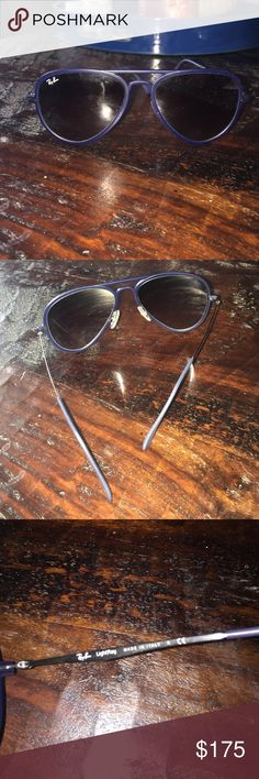 AUTHENTIC liteforce aviator ray bans Dark blue liteforce aviator authentic ray bans perfect condition worn 2 times no flaws or scratches, original price from ray ban shown in picture Ray-Ban Accessories Sunglasses
