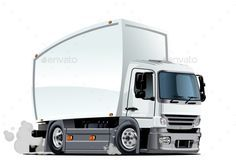 Cartoon Delivery Or Cargo Truck En 2020 Cheyenne Camioneta