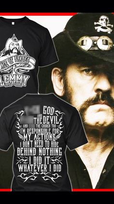 Memorial T-shirt R.I.P. Lemmy