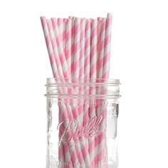 Pajitas vintage rayas rosa chicle 25 uds de Dress my Cupcake